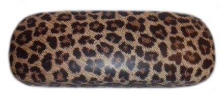 Wild Side Leopard Print Hard Glasses Case